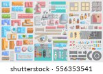set of landscape elements. city ... | Shutterstock .eps vector #556353541