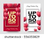 happy valentines day sale... | Shutterstock .eps vector #556353829