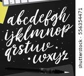 hand drawn typeface set. brush... | Shutterstock .eps vector #556354471