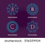 set of monogram design template.... | Shutterstock .eps vector #556359934