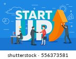 business startup work moments... | Shutterstock .eps vector #556373581
