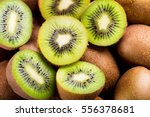 fresh kiwi fruit as background