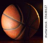 basketball ball in dark | Shutterstock . vector #55638127