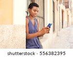 portrait of african american...   Shutterstock . vector #556382395