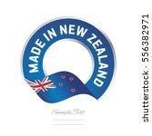 made in new zealand flag blue... | Shutterstock .eps vector #556382971