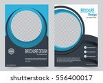 blue brochure template flyer... | Shutterstock .eps vector #556400017