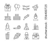 set of happy birthday and... | Shutterstock .eps vector #556400725