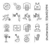 set of basketball related... | Shutterstock .eps vector #556401994