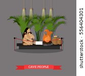 Illustration Of Cave People...