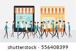 shop online store and  digital... | Shutterstock .eps vector #556408399