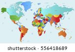 world map countries vector on... | Shutterstock .eps vector #556418689