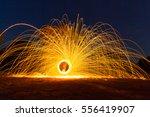 Burning Steel Wool Spinning....
