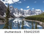 beautiful panoramic view over... | Shutterstock . vector #556422535