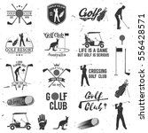 set of golf club concept with... | Shutterstock .eps vector #556428571