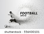 football of the particles... | Shutterstock .eps vector #556430101
