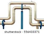 loop steam pipeline on white...