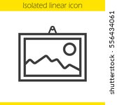 wall painting linear icon. thin ... | Shutterstock .eps vector #556434061