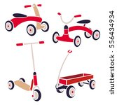 vintage kids toys  bicycle ... | Shutterstock .eps vector #556434934