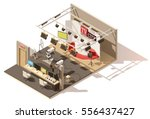 vector isometric low poly... | Shutterstock .eps vector #556437427