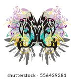 grunge peaked eagle butterfly....