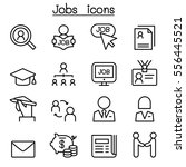 jobs icon set in thin line... | Shutterstock .eps vector #556445521