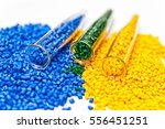 polymeric dye. plastic pellets. ... | Shutterstock . vector #556451251