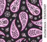 paisley seamless pattern.... | Shutterstock .eps vector #556452469
