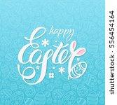 happy easter vector... | Shutterstock .eps vector #556454164
