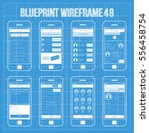 mobile wireframe app ui kit 48. | Shutterstock .eps vector #556458754