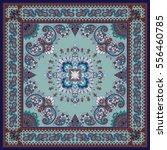 vector ornament paisley bandana ... | Shutterstock .eps vector #556460785