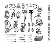 vector set of knitting  sewing  ... | Shutterstock .eps vector #556461889