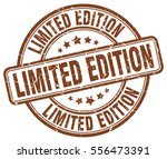 limited edition. stamp. brown... | Shutterstock .eps vector #556473391