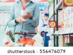 Woman Doing Grocery Shopping A...