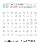 vector graphic set. icons in... | Shutterstock .eps vector #556476304