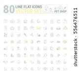 vector graphic set. icons in... | Shutterstock .eps vector #556476511