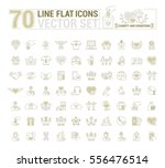 vector graphic set. icons in... | Shutterstock .eps vector #556476514