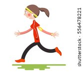 running woman isolated on white ... | Shutterstock .eps vector #556478221