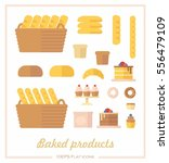 set of icons on the baking... | Shutterstock .eps vector #556479109