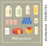 vector collection of dairy... | Shutterstock .eps vector #556481761