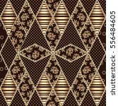gorgeous seamless patchwork... | Shutterstock .eps vector #556484605
