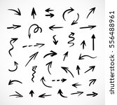 hand drawn arrows  vector set | Shutterstock .eps vector #556488961