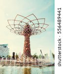 tree of life at exhibition expo ... | Shutterstock . vector #556489441