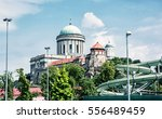 beautiful basilica and water... | Shutterstock . vector #556489459