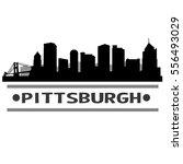 pittsburgh skyline silhouette   Shutterstock .eps vector #556493029