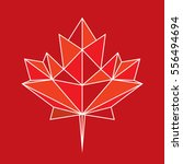 a low polygon style maple leaf... | Shutterstock .eps vector #556494694