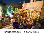 athens august 22  street with... | Shutterstock . vector #556494811