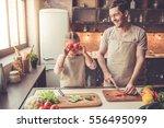 cute little girl and her...   Shutterstock . vector #556495099