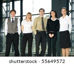 group of business people in... | Shutterstock . vector #55649572