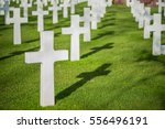 White Crosses On Graveyard Wit...