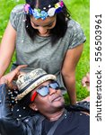 friendship and love between... | Shutterstock . vector #556503961
